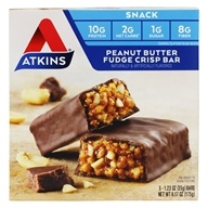 Atkins Nutritionals Inc. - Day Break Bar Peanut Butter Fudge Crisp - 5 Bars by Atkins Nutritionals Inc.