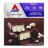 Atkins Nutritionals Inc. - Endulge Bar Chocolate Coconut - 5 Bars by Atkins Nutritionals Inc.