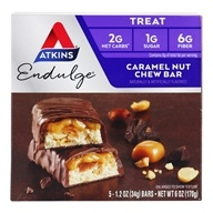 Atkins Nutritionals Inc. - Endulge Bar Caramel Nut Chew - 5 Bars (637480075022)