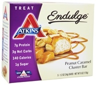 Atkins Nutritionals Inc. - Endulge Bar Peanut Caramel Cluster - 5 Bars (637480075053)