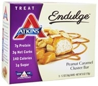 Atkins Nutritionals Inc. - Endulge Bar Peanut Caramel Cluster - 5 Bars