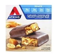 Atkins Nutritionals Inc. - Advantage Snack Bar Caramel Chocolate Peanut Nougat - 5 Bars (637480035026)