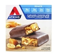 Image of Atkins Nutritionals Inc. - Advantage Snack Bar Caramel Chocolate Peanut Nougat - 5 Bars