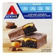 Atkins Nutritionals Inc. - Advantage Snack Bar Caramel Double Chocolate Crunch - 5 Bars (637480035057)