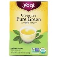 Yogi Tea - Green Tea Pure Green - 16 Tea Bags Formerly Simply Green, from category: Teas