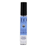 Image of EO Products - Hand Sanitizing Spray Travel Size Organic Lavender - 0.33 oz. OVERSTOCKED