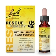 Bach Flower Essences - Rescue Remedy Pet Natural Stress Relief for Pets - 10 ml.