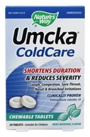 Nature's Way - Umcka Cold Care Mint-Menthol - 20 Chewable Tablets by Nature's Way