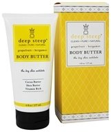 Deep Steep - Body Butter Grapefruit Bergamot - 6 oz. - $4.99
