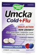 Nature's Way - Umcka Cold + Flu Berry - 20 Chewable Tablets, from category: Homeopathy