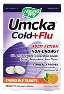 Nature's Way - Umcka Cold + Flu Orange - 20 Chewable Tablets