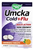 Nature's Way - Umcka Cold + Flu Orange - 20 Chewable Tablets by Nature's Way