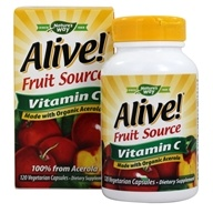 Image of Nature's Way - Alive Vitamin C 100% Whole Food Complex - 120 Vegetarian Capsules