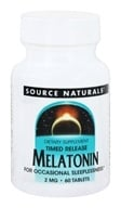 Source Naturals - Melatonin Timed Release 2 mg. - 60 Tablets - $4.79