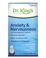 King Bio - Homeopathic Natural Medicine Anxiety & Nervousness - 2 oz., from category: Homeopathy
