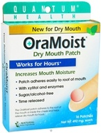 Quantum Health - OraMoist Dry Mouth Patch Natural Fruit Flavor - 16 Tablets
