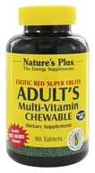 Image of Nature's Plus - Adult's Multi-Vitamin Exotic Red Berry - 90 Chewable Tablets