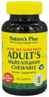 Image of Nature's Plus - Adult's Multi-Vitamin Exotic Red Berry - 60 Chewable Tablets