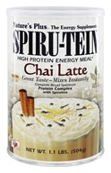 Image of Nature's Plus - Spiru-Tein High Protein Energy Meal Chai Latte - 1.1 lbs.
