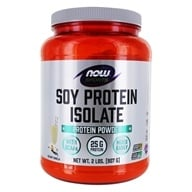 NOW Foods - Soy Protein Isolate Non-Genetically Engineered Natural Vanilla - 2 lbs. (733739021427)