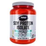Image of NOW Foods - Soy Protein Isolate Non-Genetically Engineered Natural Vanilla - 2 lbs.
