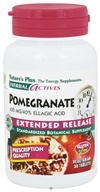 Image of Nature's Plus - Herbal Actives Extended Release Pomegranate 400 mg. - 30 Vegetarian Tablets CLEARANCED PRICED