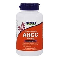 NOW Foods - AHCC Extra Strength Immune Support 750 mg. - 60 Vegetarian Capsules (733739030344)