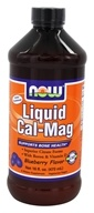 NOW Foods - Liquid Cal-Mag Blueberry Flavor - 16 oz. (733739012692)