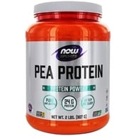 NOW Foods - Pea Protein 100% Pure Non-GMO Vegetable Protein Unflavored - 2 lbs. (733739021359)