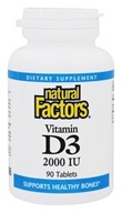Natural Factors - Vitamin D3 2000 IU - 90 Tablets (068958010526)