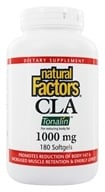Natural Factors - CLA Tonalin Conjugated Linoleic Acid Blend 1000 mg. - 180 Softgels