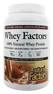 Natural Factors - Whey Factors 100% Natural Whey Protein Natural Double Chocolate - 2 lbs. - $29.97