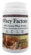 Natural Factors - Whey Factors 100% Natural Whey Protein Natural Double Chocolate - 2 lbs. (068958029344)