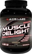 Axis Labs - Muscle Delight Protein Powder Chocolate - 2.48 lbs. (689076412766)