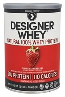 Designer Protein - Designer Whey 100% Premium Whey Protein Powder Luscious Strawberry - 12.7 oz.