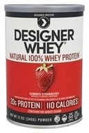 Designer Protein - Designer Whey 100% Premium Whey Protein Powder Luscious Strawberry - 12.7 oz. - $11.99