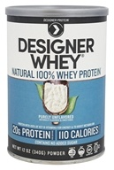 Designer Protein - Designer Whey Natural 100% Whey-Based Protein Purely Unflavored - 12 oz.