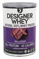 Designer Protein - Designer Whey 100% Whey Protein Powder Double Chocolate - 12.7 oz.