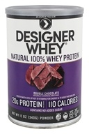Designer Protein - Designer Whey 100% Whey Protein Powder Double Chocolate - 12.7 oz. by Designer Protein