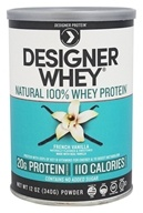 Designer Protein - Designer Whey 100% Premium Whey Protein Powder French Vanilla - 12.7 oz., from category: Sports Nutrition
