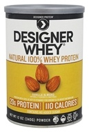 Designer Protein - Designer Whey Natural 100% Whey-Based Protein Powder Vanilla Almond - 12 oz.