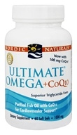 Nordic Naturals - Ultimate Omega Purified Fish Oil Plus CoQ10 1000 mg. - 60 Softgels (768990018909)