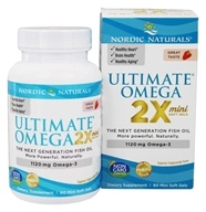 Nordic Naturals - Ultimate Omega Mini Strawberry 1120 mg. - 60 Softgels