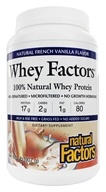 Natural Factors - Whey Factors 100% Natural Whey Protein French Vanilla - 2 lbs. by Natural Factors