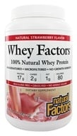 Natural Factors - Whey Factors 100% Natural Whey Protein Very Strawberry - 2 lbs. (068958029337)