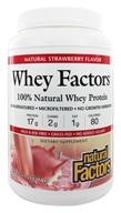 Natural Factors - Whey Factors 100% Natural Whey Protein Very Strawberry - 2 lbs. by Natural Factors