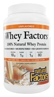 Natural Factors - Whey Factors 100% Natural Whey Protein Unflavored - 2 lbs. by Natural Factors