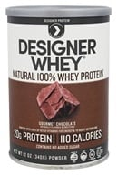 Designer Protein - Designer Whey 100% Premium Whey Protein Powder Gourmet Chocolate - 12 oz., from category: Sports Nutrition