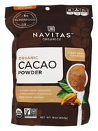 Navitas Naturals - Cacao Power Raw Powder Certified Organic Chocolate - 16 oz. by Navitas Naturals