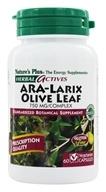 Nature's Plus - Herbal Actives ARA-Larix Olive Leaf Complex 750 mg. - 60 Vegetarian Capsules